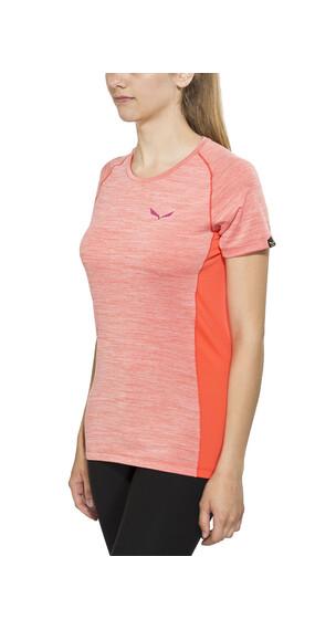 Salewa Pedroc Dry t-shirt Dames oranje/rood